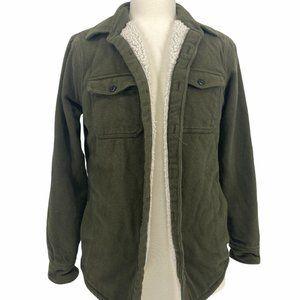 Hollister Men's Casual Fleece Winter Jacket Shearl